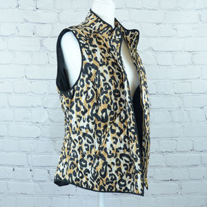 NWT CROWN & IVY Animal Print Quilted Vest